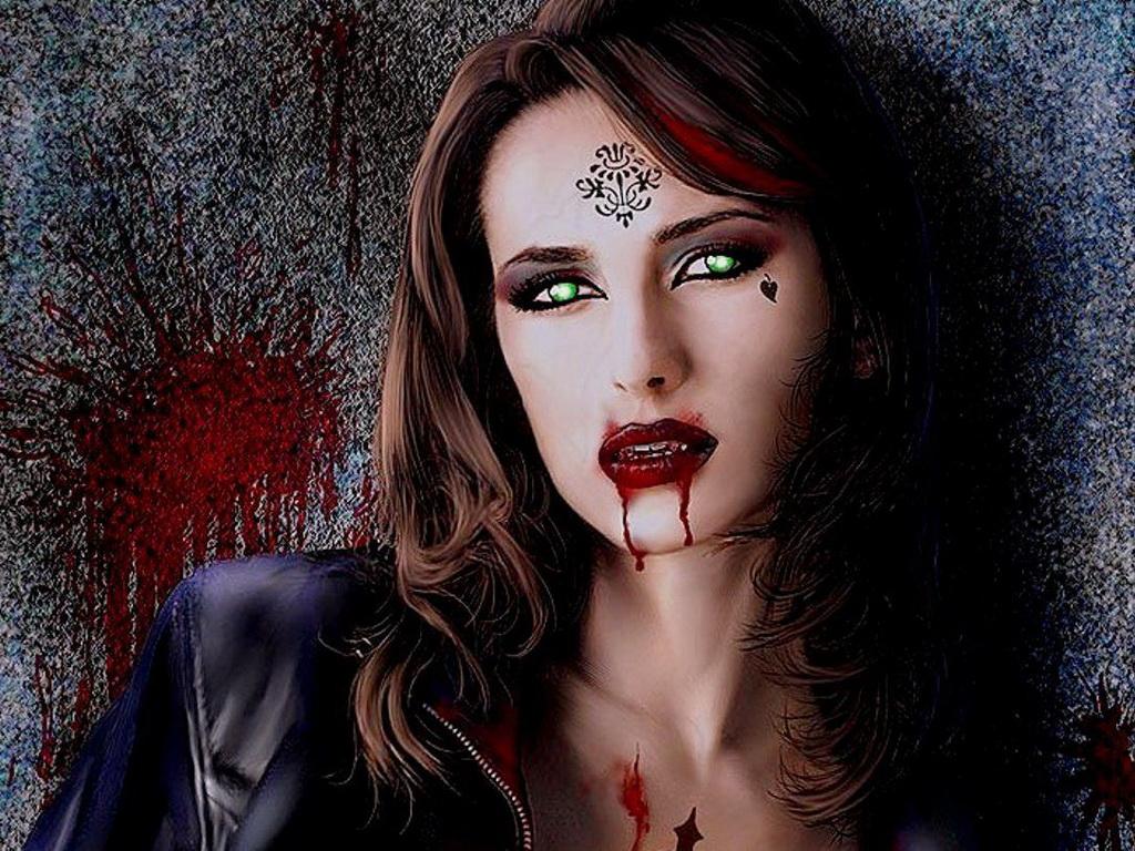 фотообои сексуальная вампирша